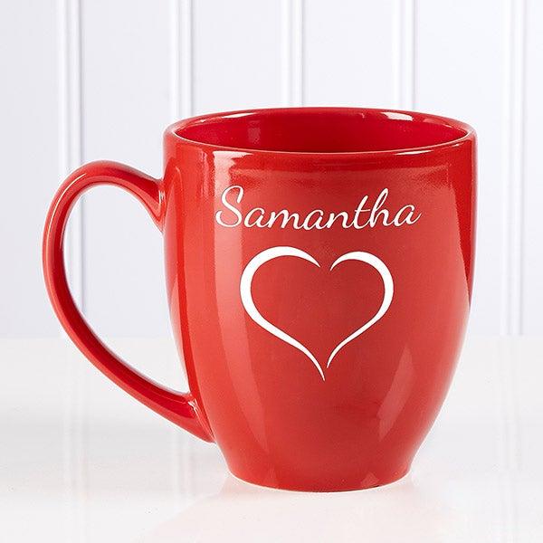 Personalized Red Bistro Mug - Valentine Cheer - 15321