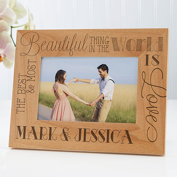Personalized Romantic Wood Picture Frame - Love Quotes - 15322