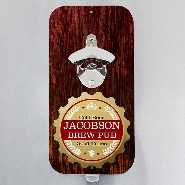 Personalized Magnetic Bottle Opener - Premium Brew - 15325