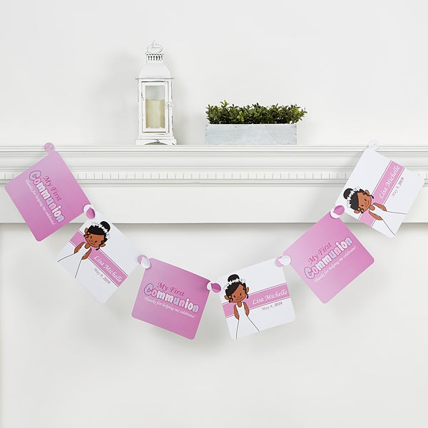 Personalized Religious Paper Party Banner - I'm The Communion Girl - 15400