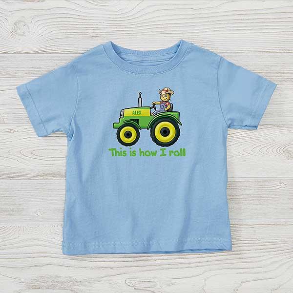 Tractor Onesies Personalized Tractor Onesies Monogrammed Tractor Onesies