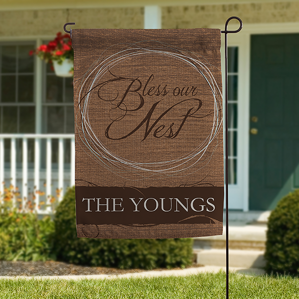 Personalized Garden Flag - Bless Our Nest - 15439