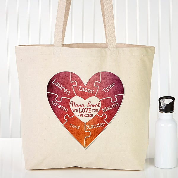 Personalized Tote Bag - We Love You To Pieces - 15484