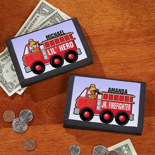 Jr  Firefighter Personalized Wallet