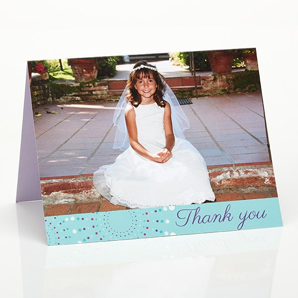 Personalized Religious Thank You Cards - God Bless - 15507