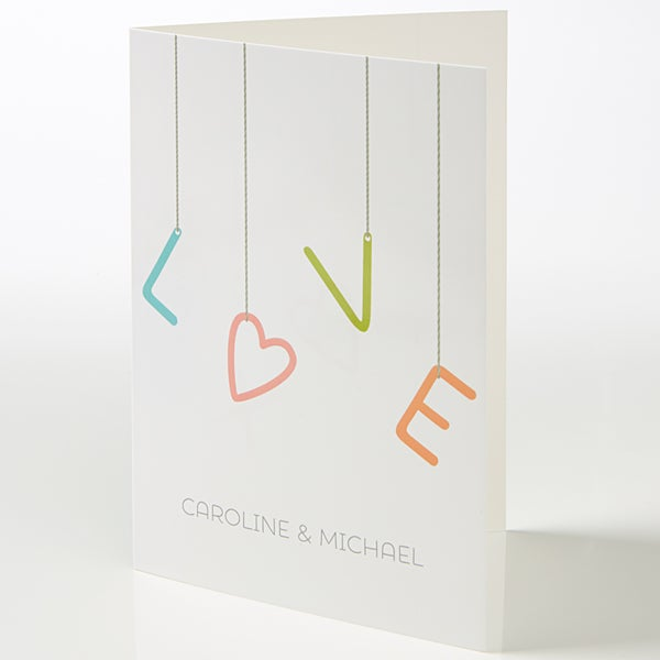 Personalized Romantic Greeting Card - Strings Of Love - 15518