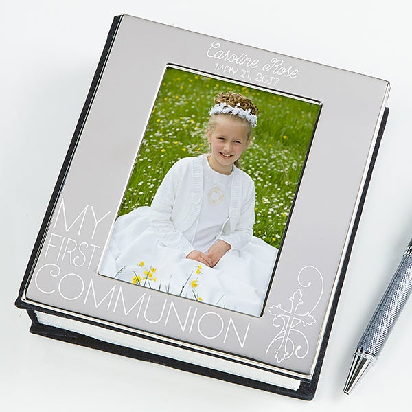 15548 my first communion personalized engraved photo album. Black Bedroom Furniture Sets. Home Design Ideas