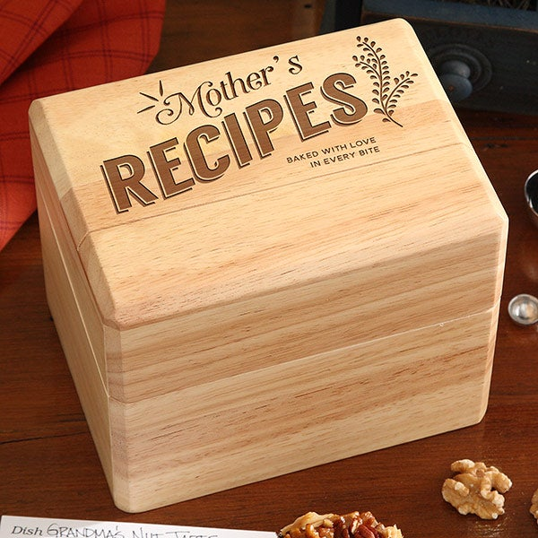 Her Recipes Personalized Recipe Box