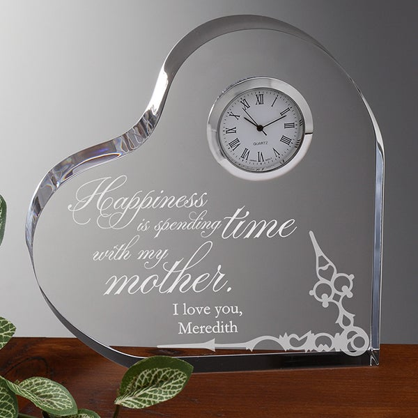 Personalized Heart Clock - Loving Mother - 15578