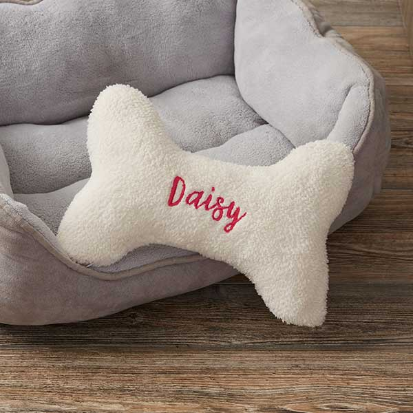 Personalized Dog Bone Pet Pillow - 15594