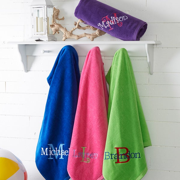 Embroidered Beach Towels - All About Me - 15598