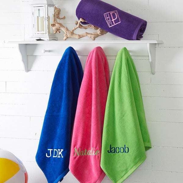 Embroidered Beach Towels - Colorful - 15601