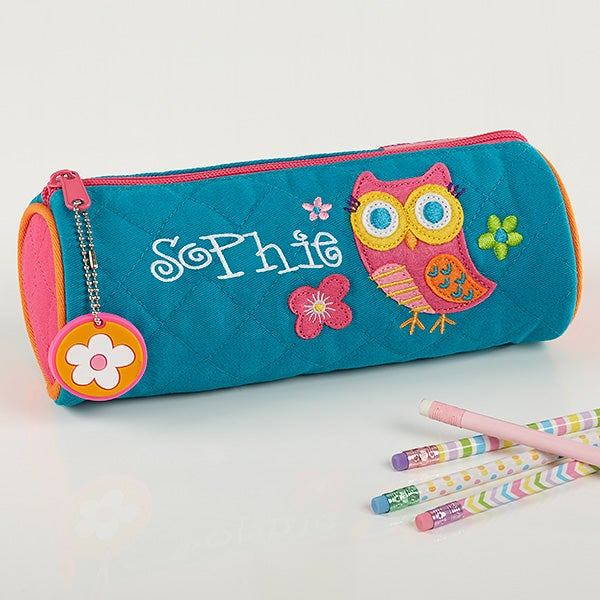 Lovable Owl Embroidered Pencil Case - 15605