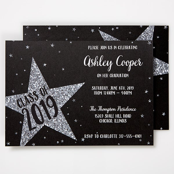 Personalized Graduation Invitations Shining Star 15629
