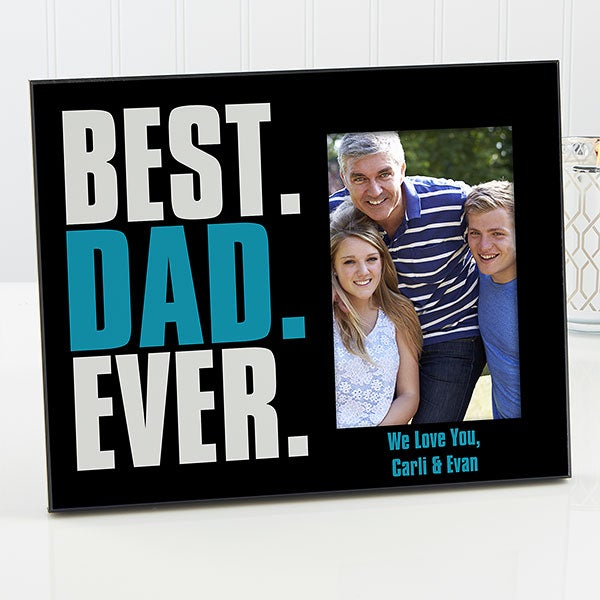 Personalized Fathers Day Picture Frame Best Dad Ever