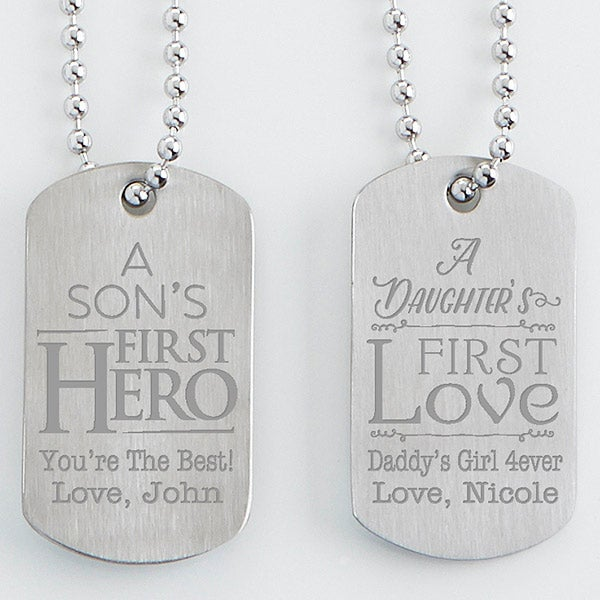 48023086fddc Personalized Dog Tag Set Of Two - First Hero, First Love - 15647