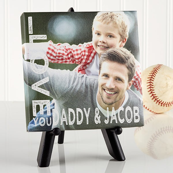 Loving Him Personalized Tabletop Canvas Print