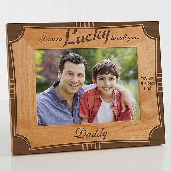 Personalized 5x7 Wood Picture Frame For Dad For Him