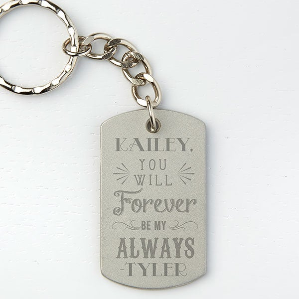 Personalized Dog Tag Keychain - Love Quotes - 15681