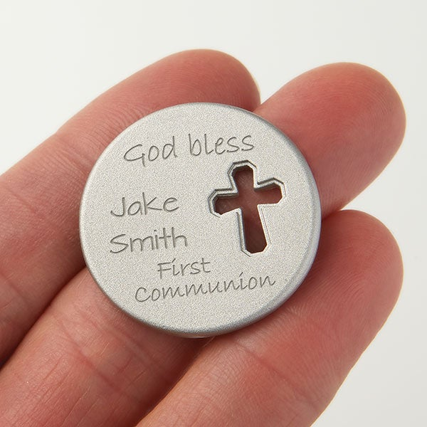 Personalized Religious Cross Pocket Token - Holy Day - 15686