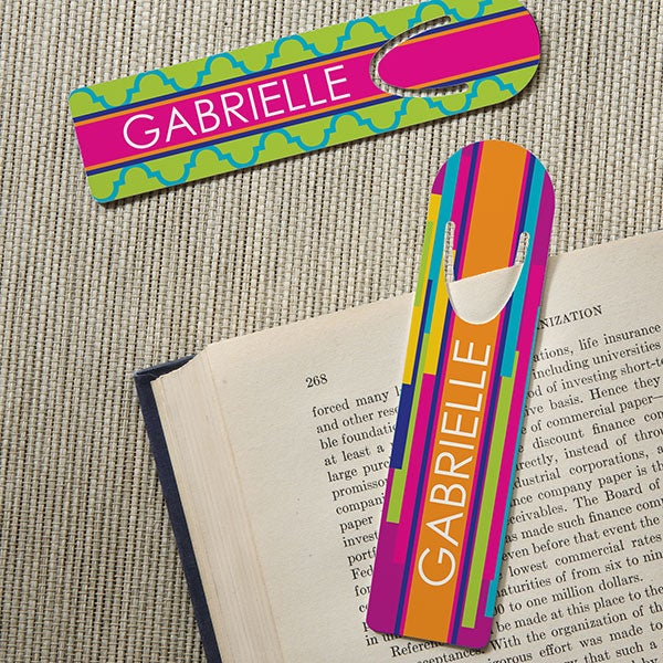 Personalized Bookmark Set - Bright & Cheerful - 15711