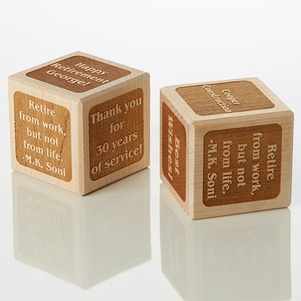 Personalized Wood Block - Retirement - 15741D