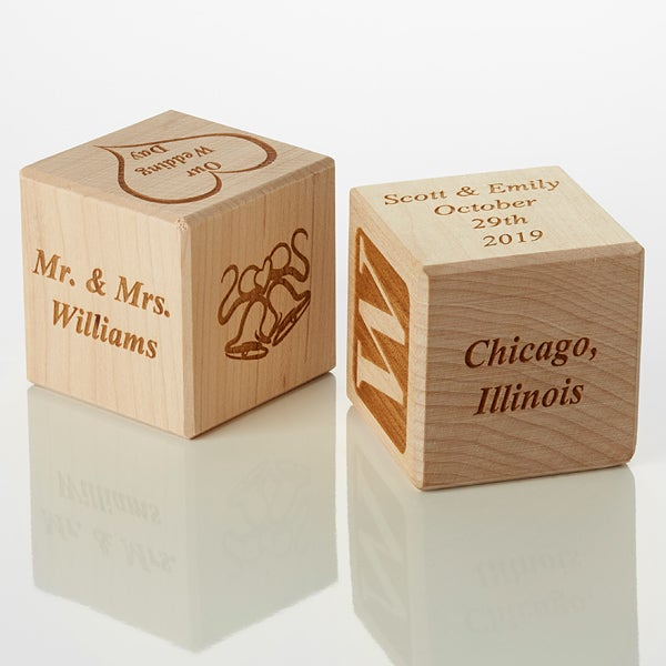 Personalized Wood Block - Our Wedding - 15742D