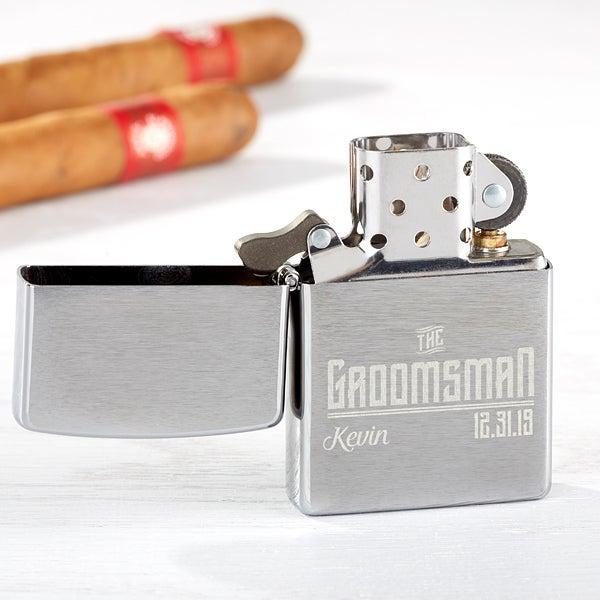 Personalized Zippo Windproof Groomsman Lighter - I Do Crew - 15767