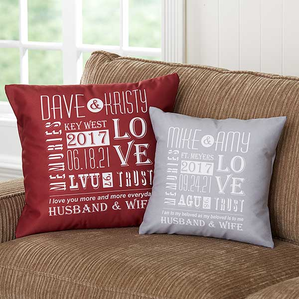 Romantic Personalized Throw Pillows Our Life Together
