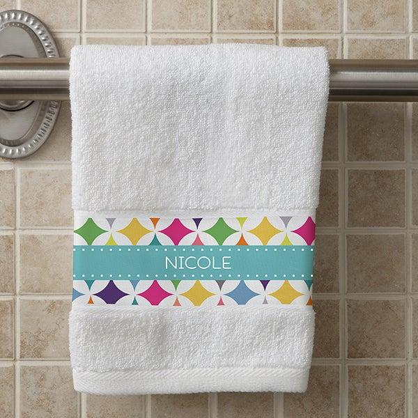 Personalized Hand Towel - Geometric - 15838