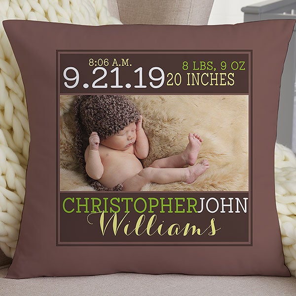 Personalized Keepsake Baby Pillow - Darling Baby Boy - 15856