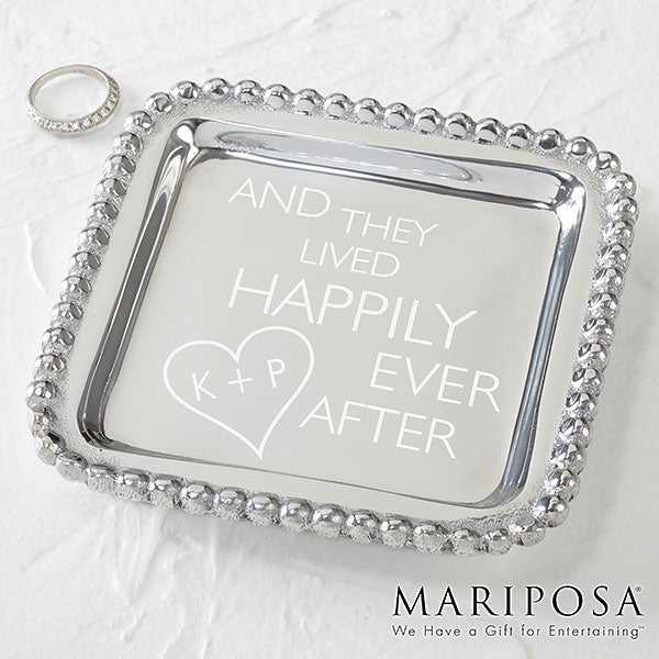 Personalized Mariposa String Of Pearls Wedding Tray - 15857