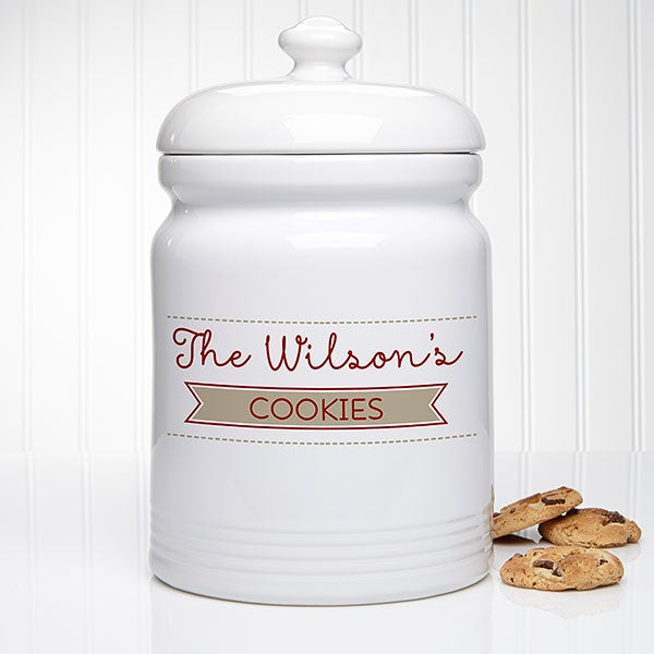 Personalized Family Cookie Jar - Our Family - 15872