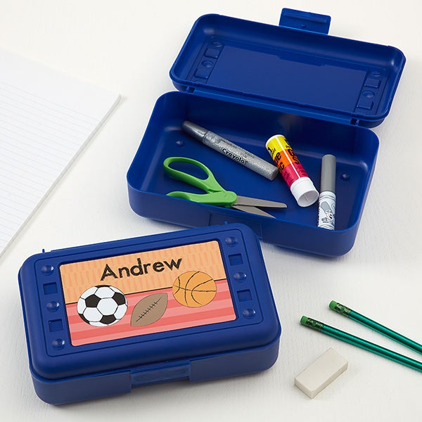 Personalized Pencil Box - Just For Him - 15877