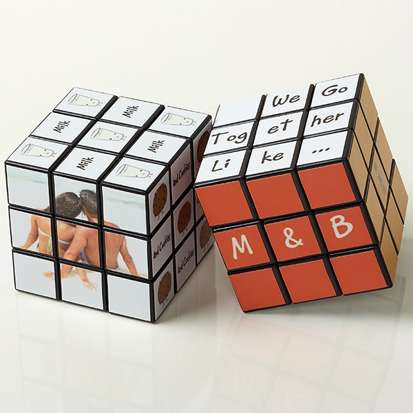 Personalized Romantic Rubik's Cube - We Go Together Like ... - 15892