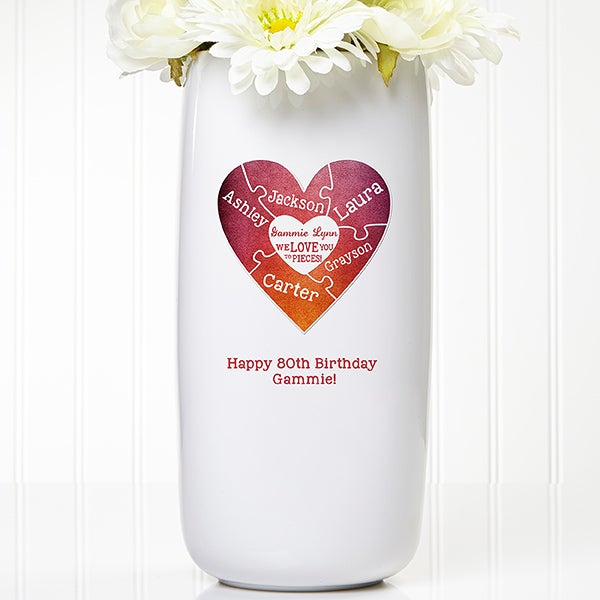 Personalized Flower Vase - We Love You To Pieces - 15947