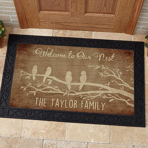 Personalized Doormat - Welcome To Our Nest - 15963