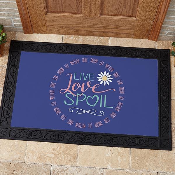 Personalized Grandparent Doormats - Live, Love, Spoil - 15968