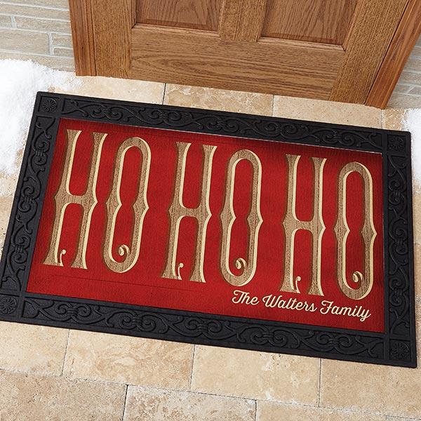 Personalized Christmas Doormat - Ho Ho Ho - 15970