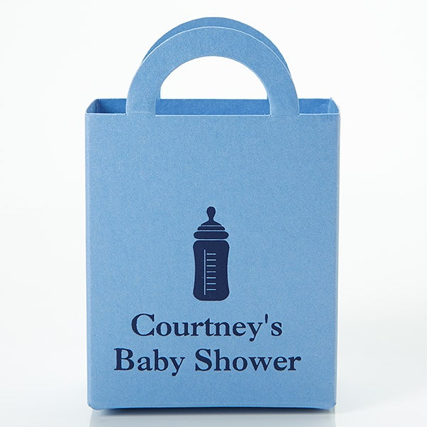 Personalized New Baby Favor Boxes - Mini Totes - 15989D