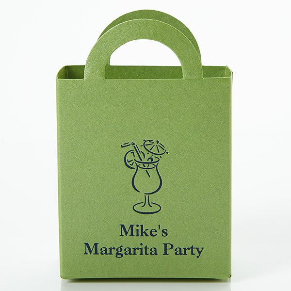 Party Time Personalized Mini Tote Favor Boxes - 15990D