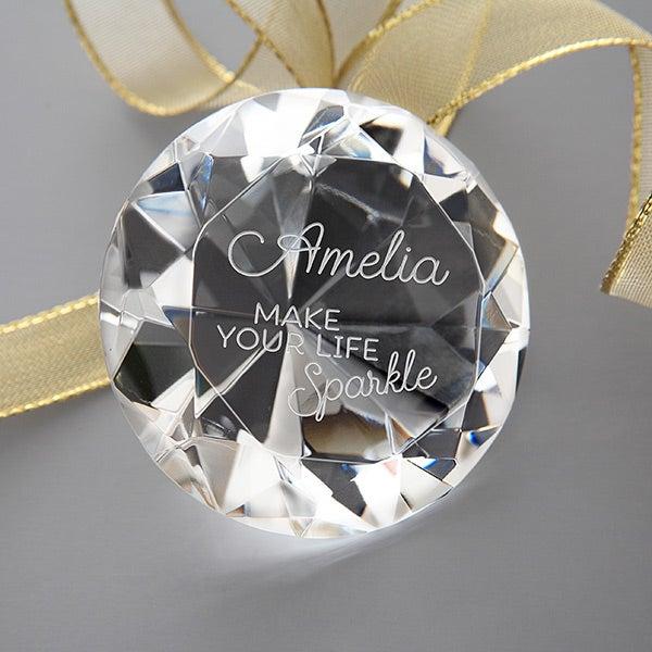 Engraved Diamond Keepsake - Make Your Life Sparkle - 16042