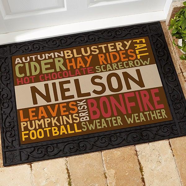 Personalized Fall Doormat - Fall Fun - 16048
