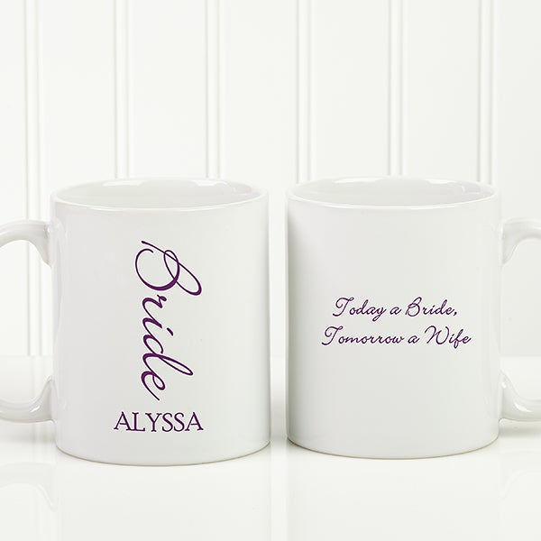 Personalized Wedding Coffee Mug Bridal Brigade 16127