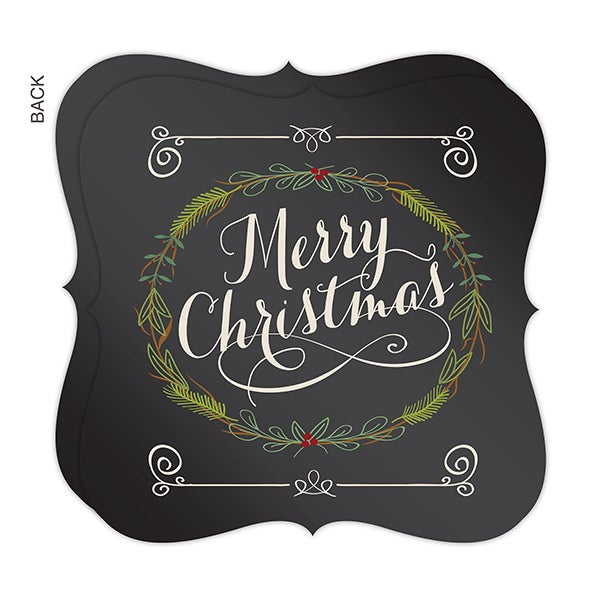 Personalized Holiday Christmas Cards - Holiday Floral - 16128