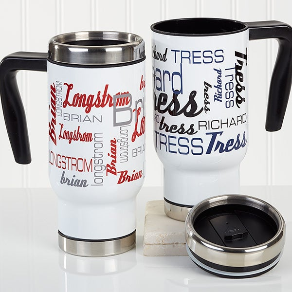 Personalized Commuter Mug - Signature Style For Him - 16163