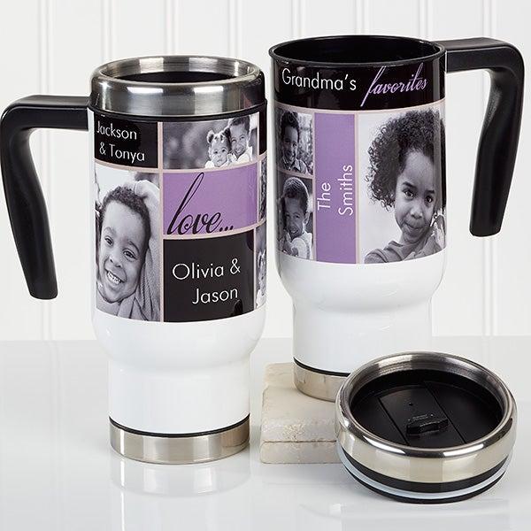 Personalized Photo Commuter Travel Mug - My Favorite Faces - 16167