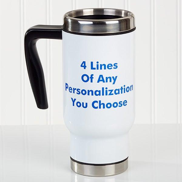 You Name It Personalized 14 Oz Commuter Travel Mug