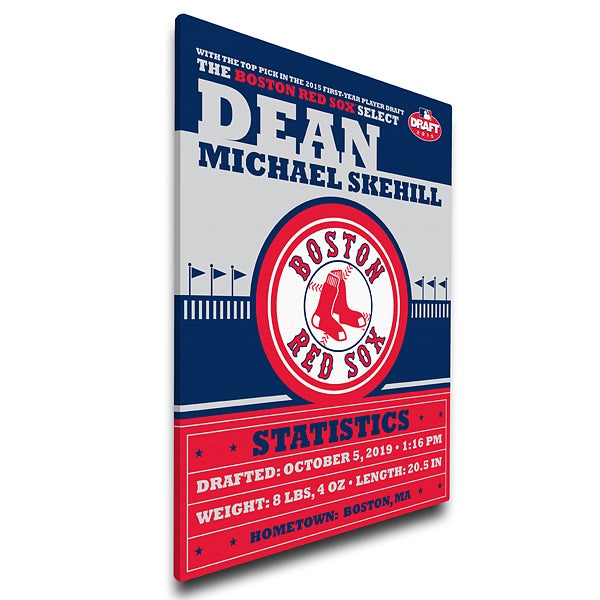Personalized Baby Canvas - MLB Baby Birth Announcement - 16183