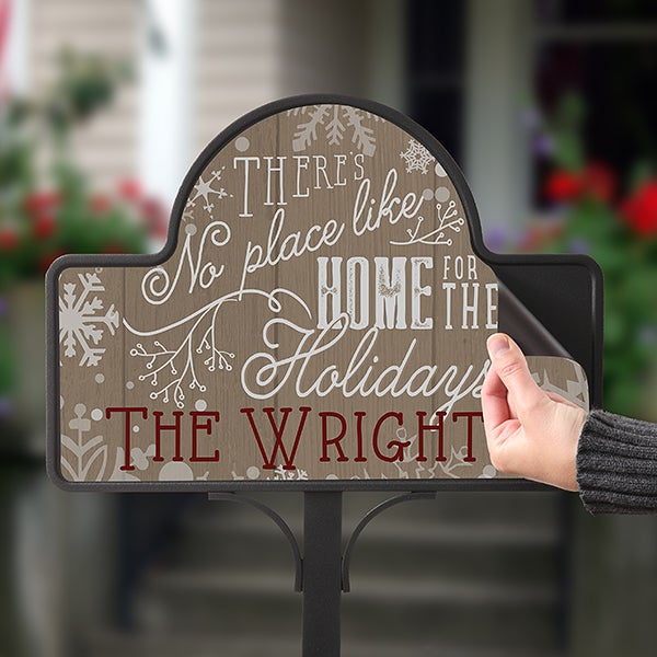 Personalized Holiday Yard Stake - No Place Like Home - 16190